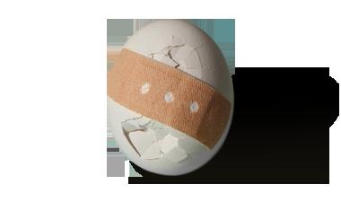 Dienstunfähigkeit - Ei mit Pflaster