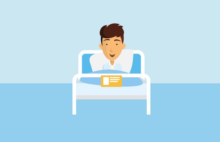 Einbettzimmer im Krankenhaus