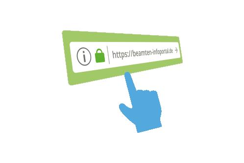 Webseite Beamten-Infoportal