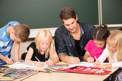 Lehrer in der Schule