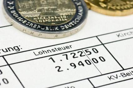 Lohnsteuer und Gehalt