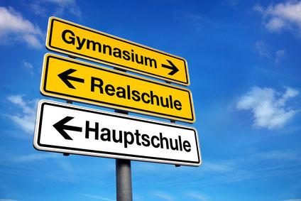 Schulformen, Gymnasium, Realschule und Hauptschule
