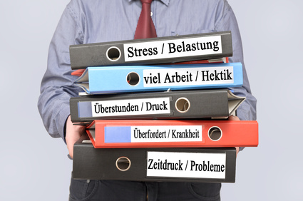Stress, Belastung, zu viel Arbeit