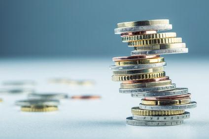 Turm aus Euromünzen